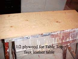 leather table top