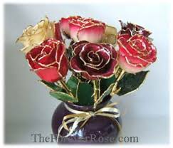 roses dipped in gold