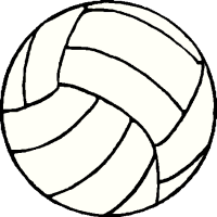 clip art of volleyball