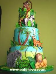 jungle animal birthday cakes