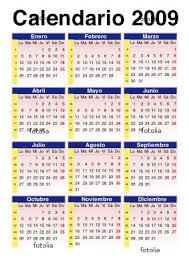 calendario espanol 2009