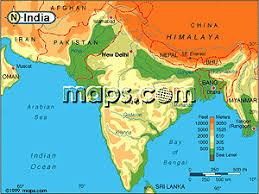 elevation of india