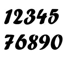 decal numbers
