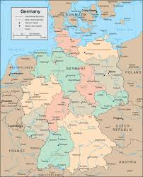 map of germany in english