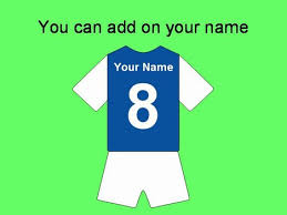 football shirt templates