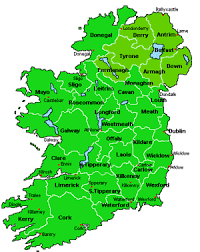 map of old ireland