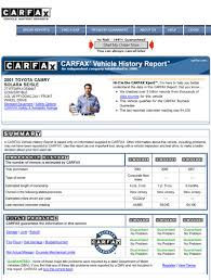 Help with a CarFax Report