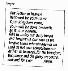 lord prayers