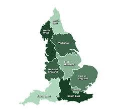 map 0f england