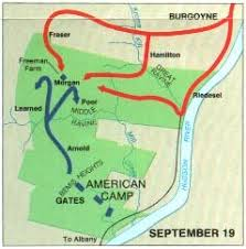 maps of the battle of saratoga