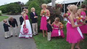 hot pink corsages