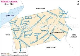 map of pa rivers