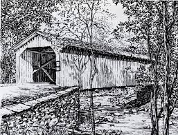 covered bridge drawings