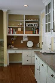 built in desk in kitchen