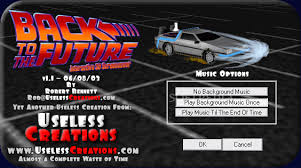 back to the future screensaver