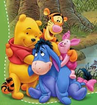characters of winnie the pooh