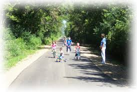 children biking