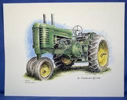 john deere tractor drawing