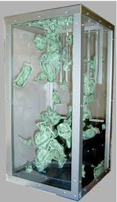 money blowing machine