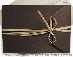 chocolate brown wedding invitations