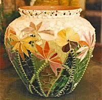 glass mosaic vases