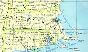 map of connecticut and massachusetts