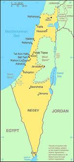 israel tourist map