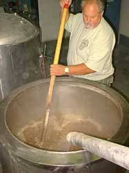 mashing beer