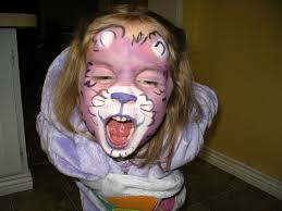 face painting bear