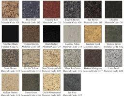 granite tile colors