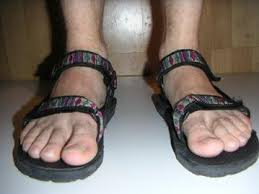 man sandles
