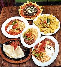 mexican food plates
