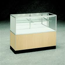 small glass display cases