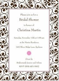 pink and brown bridal shower invitations