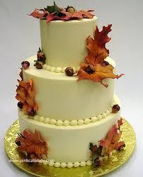 fall wedding cake photos