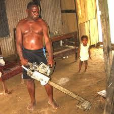 chainsaw powered