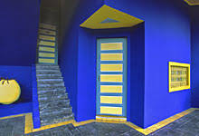 blue and yellow rooms