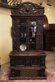 carved bookcases