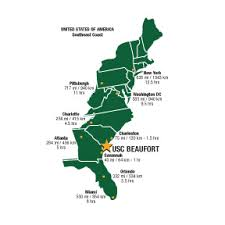 map east coast america