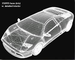 3d modeling car