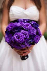 purple lisianthus bouquet