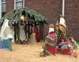 lawn nativity