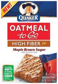 oatmeal to go bars
