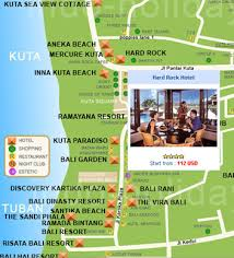 bali accommodation map
