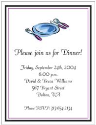 dinner party invites
