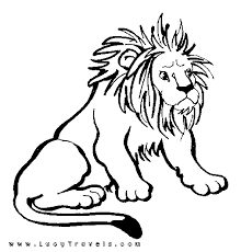 coloring page of a lion