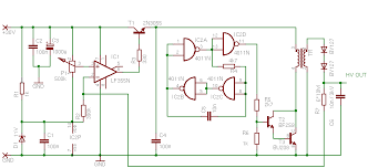 high voltage power supply schematic