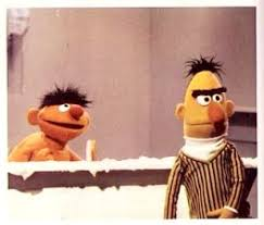 bert and ernie in the tub