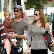 angelina jolie and brad pitt and twins