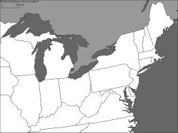 blank map of the great lakes